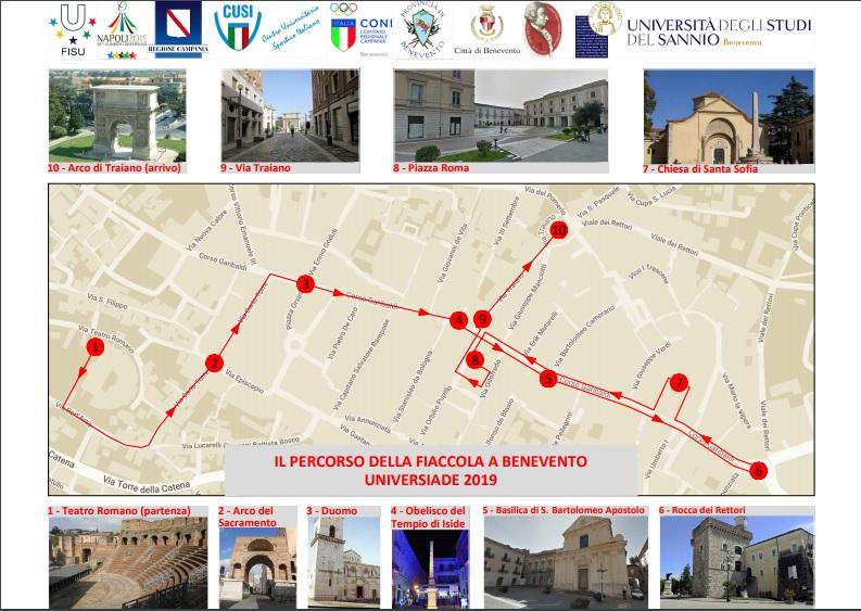 Universiade, la torcia arriva a Benevento