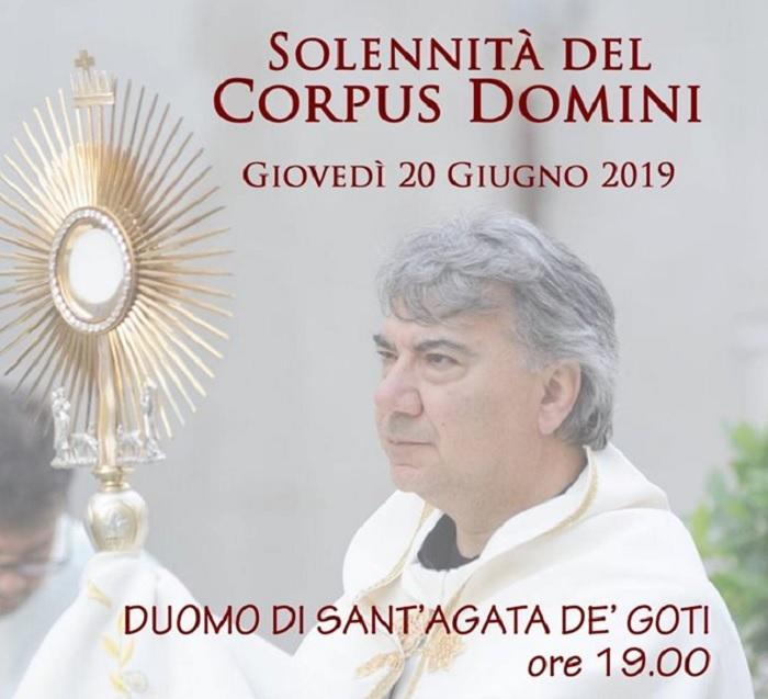 A Sant'Agata de' Goti la celebrazione diocesana della Solennità del SS. Corpo e Sangue di Cristo