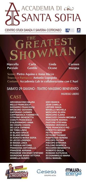"""""""The Greatest Showman"""", il musical dei laboratori dell'Accadema Santa Sofia, sabato 29 Giugno in scena"""