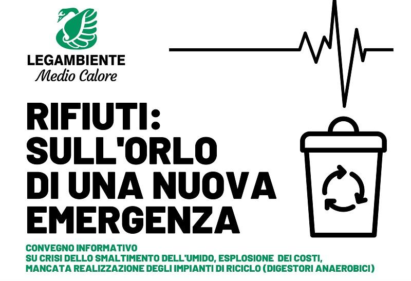 Rifiuti: Legambiente, sull'orlo di una nuova emergenza è il tema del convegno che si terrà a San Giorgio del Sannio