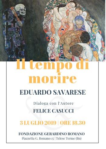 Conversazione con Eduardo Savarese  Mercoledì presso la Fondazione Gerardino Romano