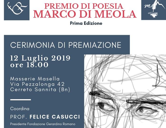 """Cerimonia conclusiva Premio Nazionale di Poesia """" Marco Di Meola"""""""
