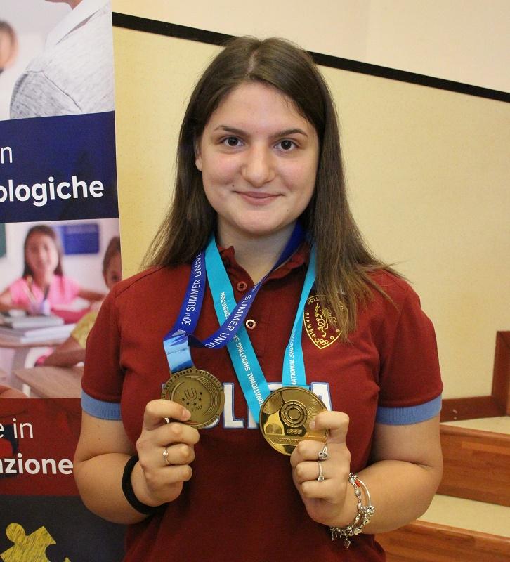 L'Unifortunato festeggia l'atleta Maria Varricchio vincitrice di una medaglia alle Universiadi
