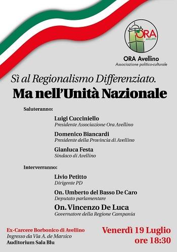 PD il 19 Luglio incontro: Sì al regionalismo differenziato, ma nell'Unità Nazionale