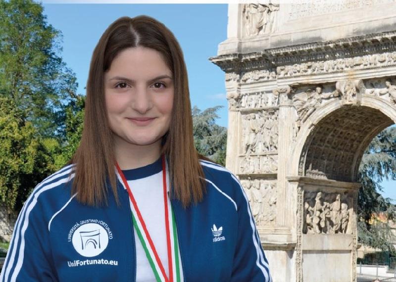 L'Unifortunato accoglierà la studentessa Maria Varricchio Medaglia di Brono alle Universiadi