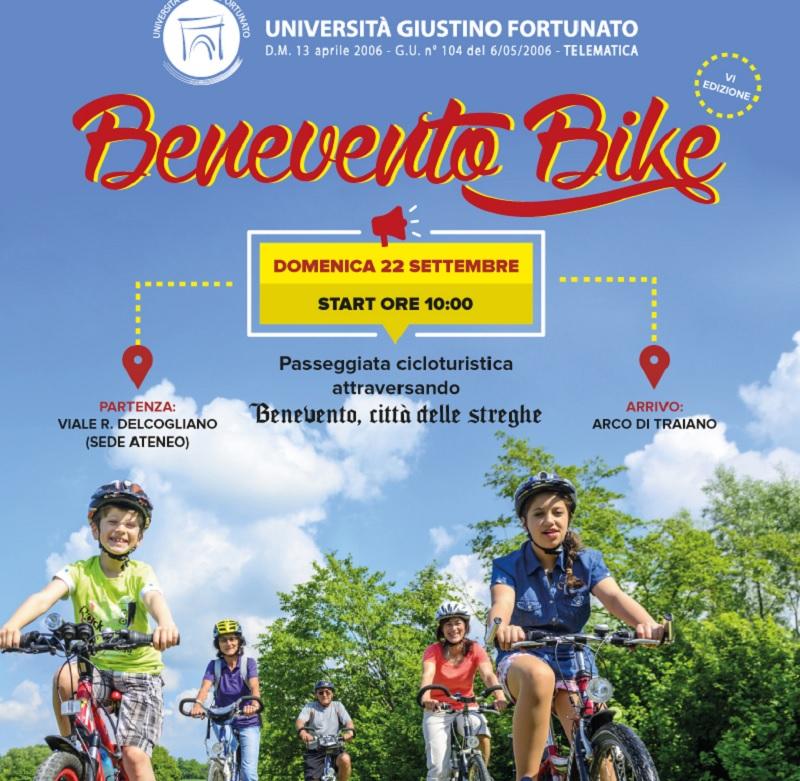 """Al via Benevento Bike 2019. Passeggiata cicloturistica per la Città di Benevento"""""""