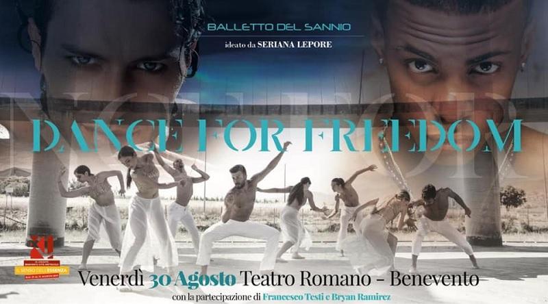Domani la presentazione dello spettacolo Dance For Freedom in scena il 30 Agosto al Teatro Romano