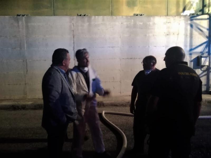 Di Maria nella serata del 15 Agosto si è recato in sopralluogo allo stir Casalduni