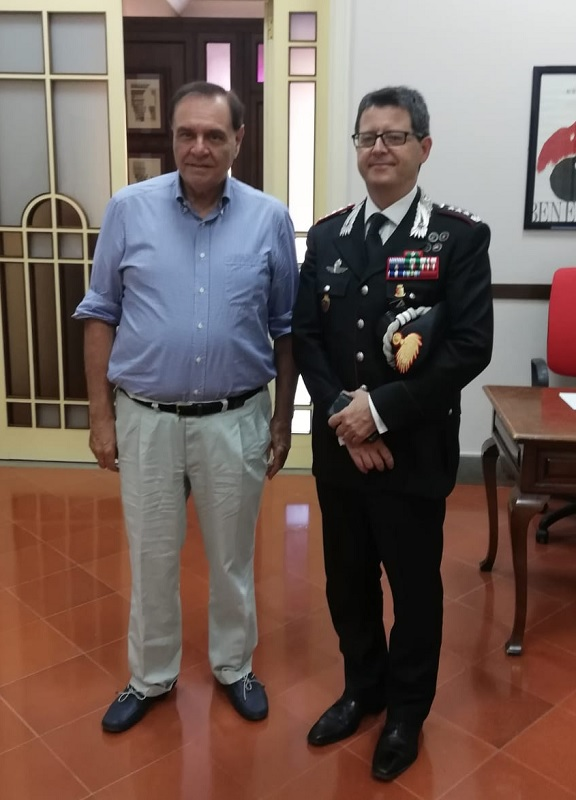 Il sindaco Mastella ha ricevuto stamani il colonnello Alessandro Puel