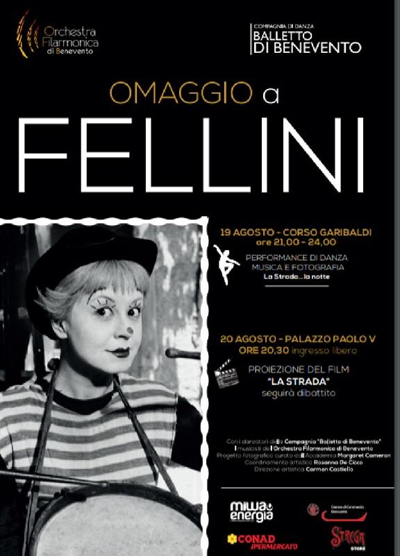 """La compagnia Balletto Benevento organizza una tappa di avvicinamento a """"Omaggio a Fellini"""""""