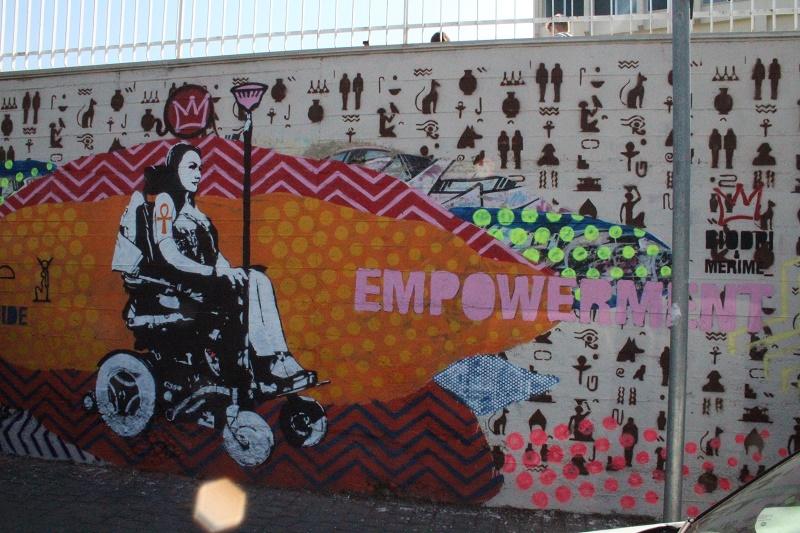 #Disabilityfriendly : successo per il murales realizzato da Fabio Della Ratta e Maria Venditti