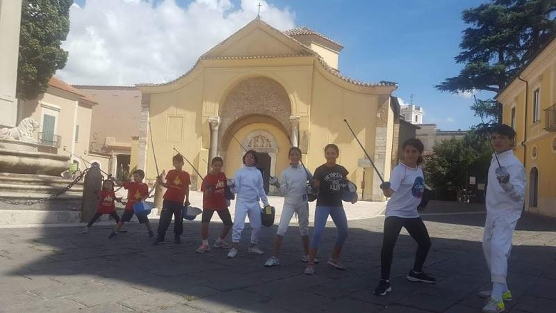 #Fencingmob19 in piazza per l'Accademia Olimpica Beneventana di Scherma Maestro Antonio Furno