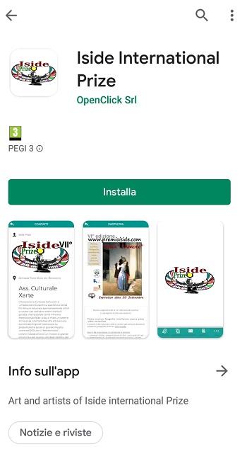 Il premio internazionale Iside presenta la sua App per cellulari.