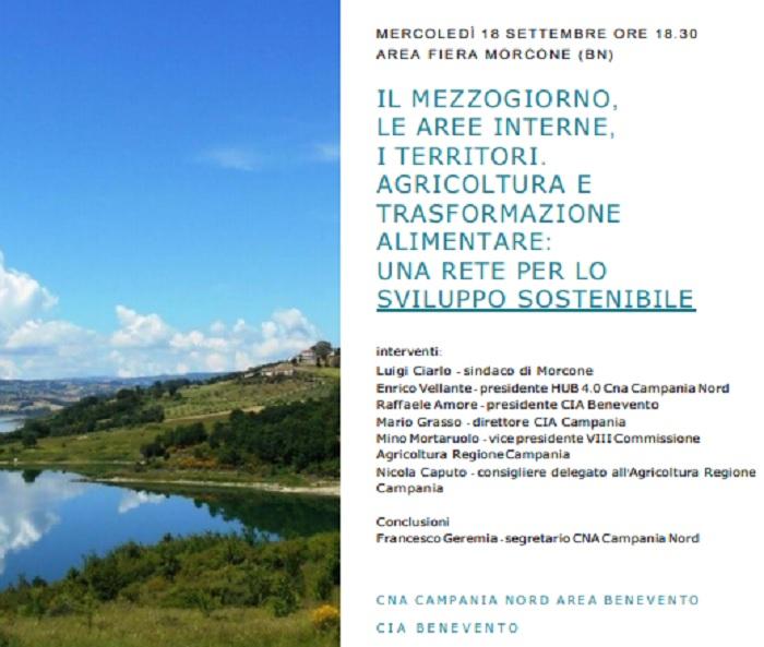 La CNA Campania e la CIA di Benevento al convegno sullo sviluppo delle aree interne