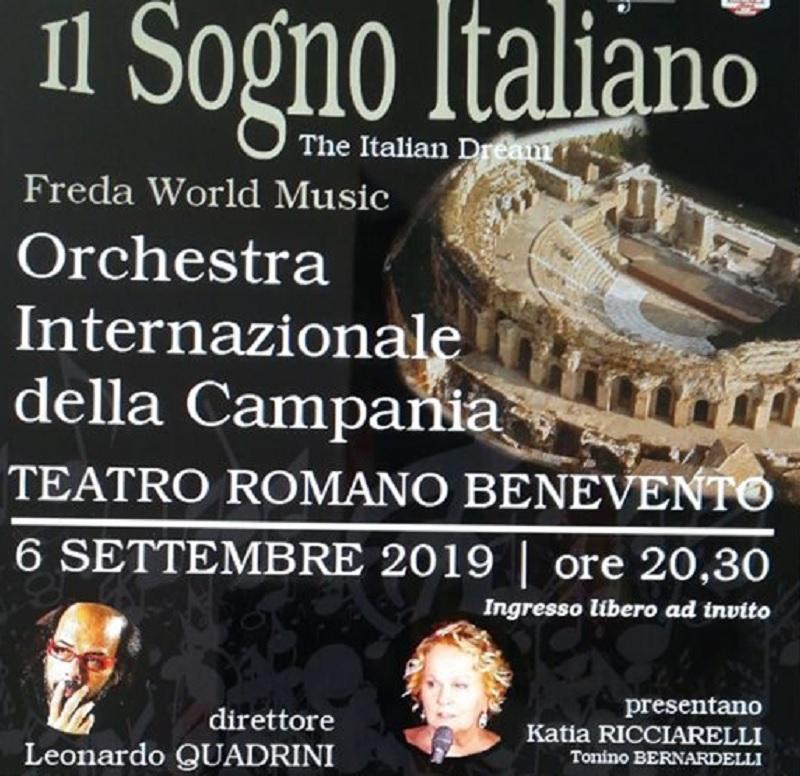 """In scena al Teatro Romano """"Il Sogno Italiano"""" venerdì 6 Settembre"""