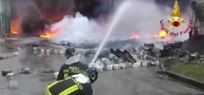 """Incendio a Pianodardine,si ferma anche lo Stir. L'Asia:""""Possibili ritardi nella raccolta"""""""
