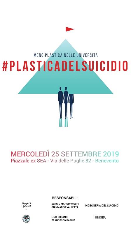 Inquinamento. Campagna di sensibilizzazione #PlasticadelSuicidio dell'Associazione Unisea