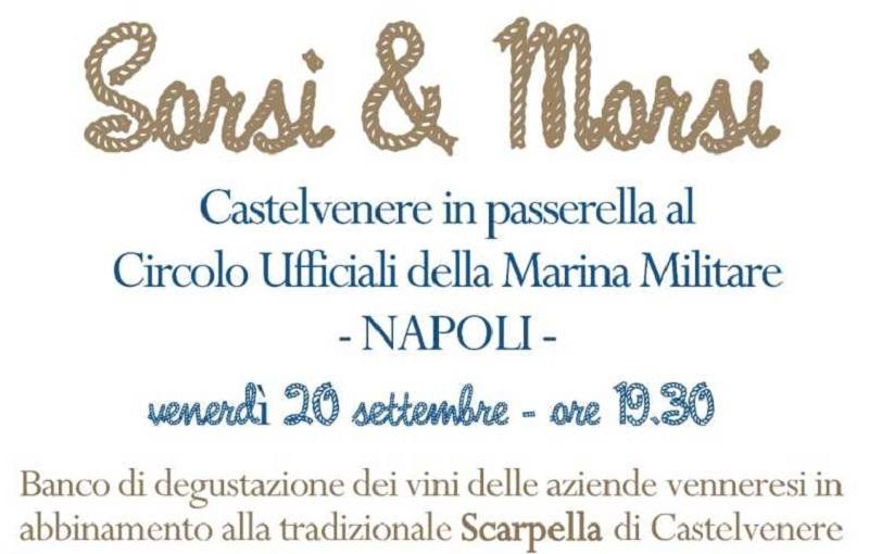 La Marina Militare di Napoli ospita il Comune di Castelvenere (Bn) con Sorsi & Morsi