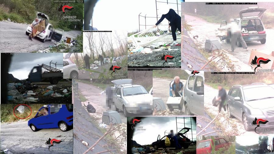 Abbandono rifiuti. I Carabinieri in azione contro gli incivili.Comminate 6mila euro di multa agli incivili.