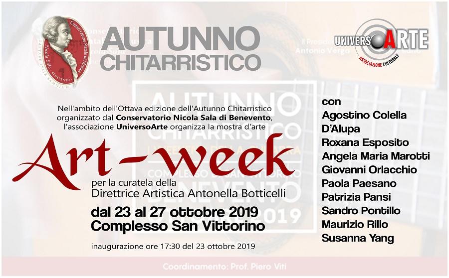 Nell'ambito dell'Autunno Chitarristico del Conservatorio la mostra d'arte Art -Week di UniversoArte di