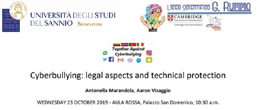 """Presso l'Università del Sannio il convegno:""""Cyberbullying legal aspects and technical protection"""""""