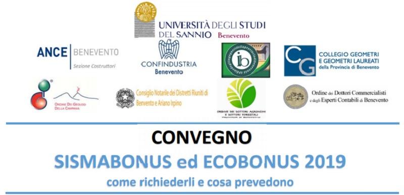 """Unisannio, il 24 Ottobre il convegno: """"Sismobonus ed Ecobonus 2019, come richiederli e cosa prevedono"""""""