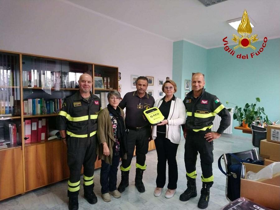 Al Comando Provinciale dei Vigili del Fuoco di Benevento tre defibrillatori