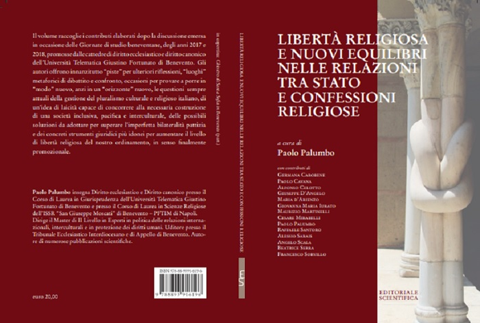 Libertà religiosa e Nuovi Equilibri tra Stato e Confessioni. Pubblicato il libro del Prof. Paolo Palumbo dell'Unifortunato