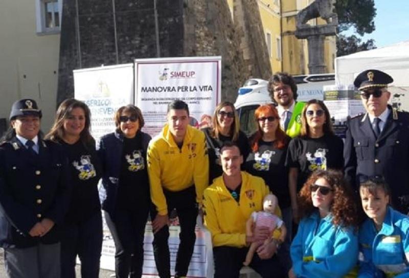 """Benevento. """"Una manovra per la vita"""", anche Volta e Vokic in Piazza Castello"""