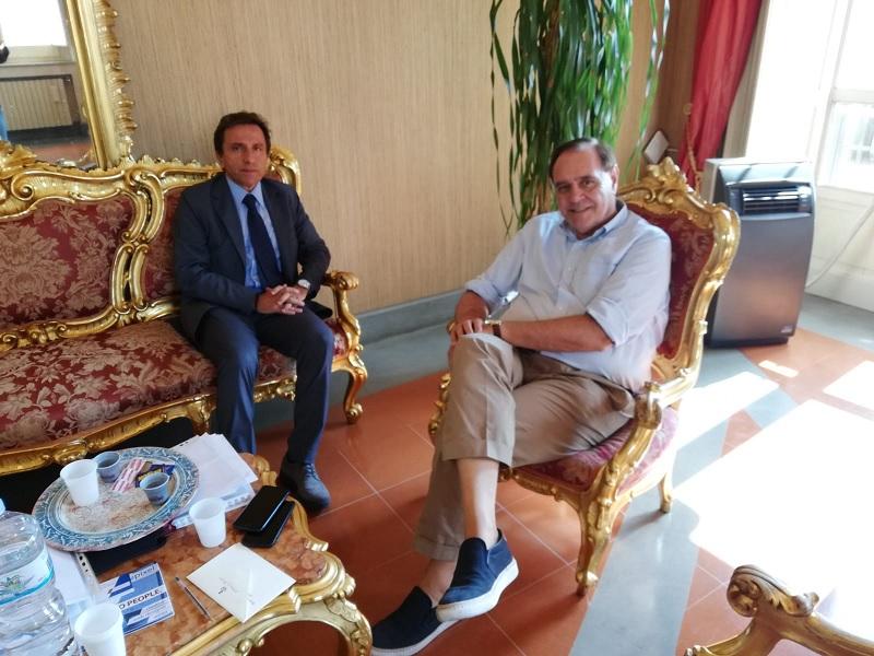 Il sindaco Mastella ha ricevuto stamani il nuovo Direttore Generale dell'Asl Gennaro Volpe