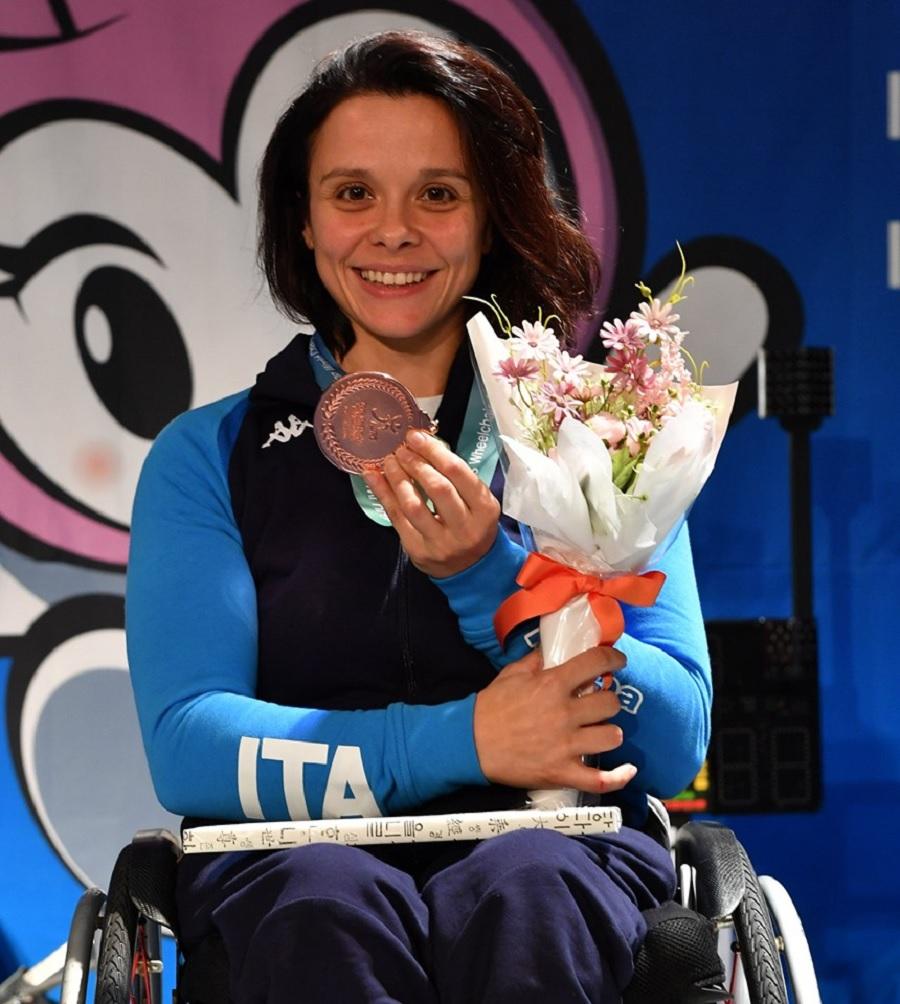 Scherma:  Rossana Pasquino conquista la medaglia di bronzo ai mondiali Paralimpici di Cheongju
