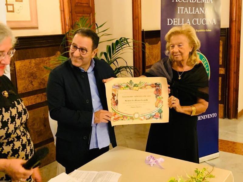 Premio Dino Villani dell'Accademia Italiana della Cucina al Liquore Amintico della Distilleria Fatebenefratelli.