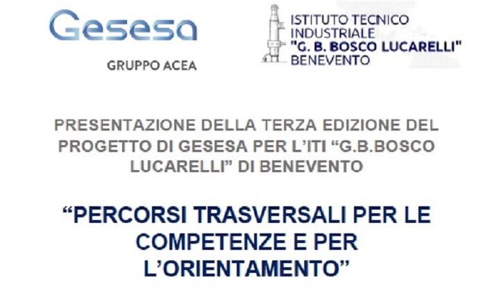 """Al via la Terza edizione del Progetto: """"Percorsi per le competenze trasversali e per l'orientamento"""" di GESESA"""