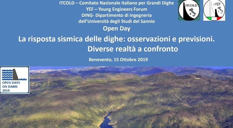 """""""La risposta sismica delle dighe: osservazioni e previsioni"""".Domani presso l'Università del Sannio"""