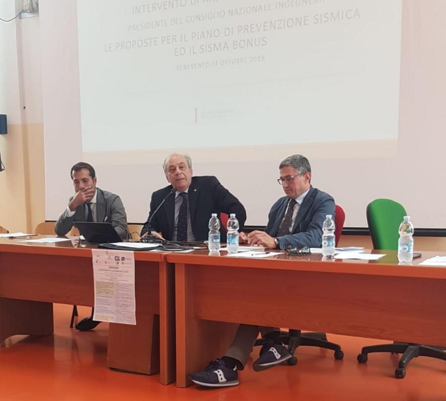 "Oggi l'evento formativo ""Sismabonus ed Ecobonus"" presso l'Università del Sannio."
