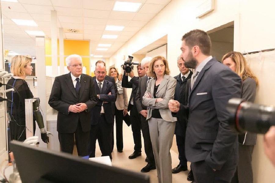 L'Ingegnere sannita Cosimo Gentile presenta un progetto scientifico di un arto robotico al Presidente Mattarella