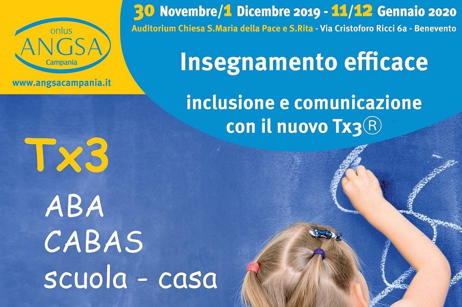 ANGSA:  a Benevento il Corso di Insegnamento efficace dedicato alla disabilità.