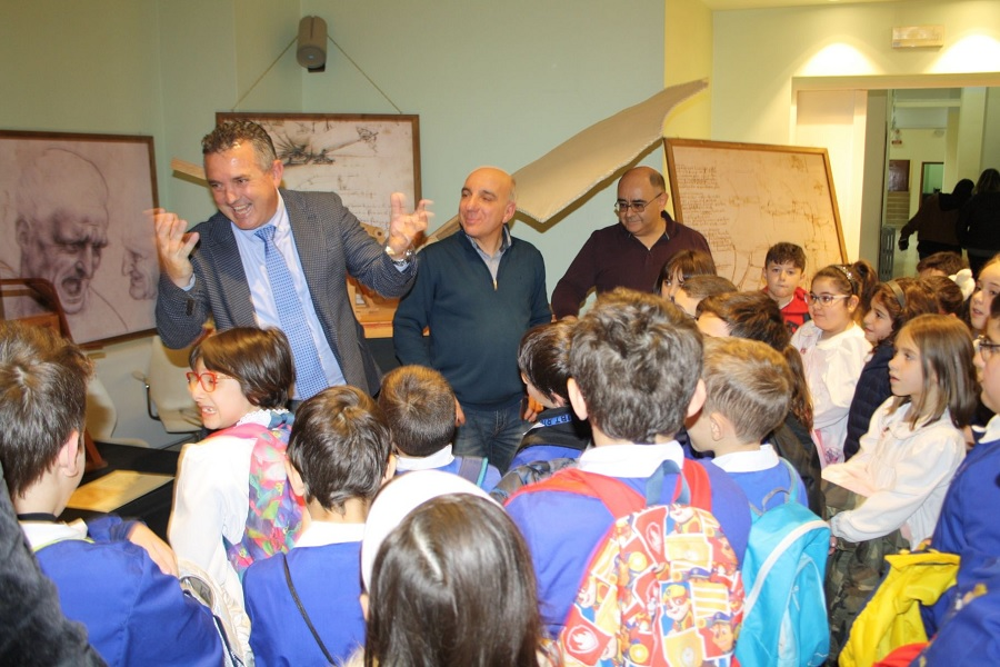 """Mostra didattica """"Leonardo Da Vinci"""" inaugurata presso il Salone di Formazione della Provincia di Benevento"""