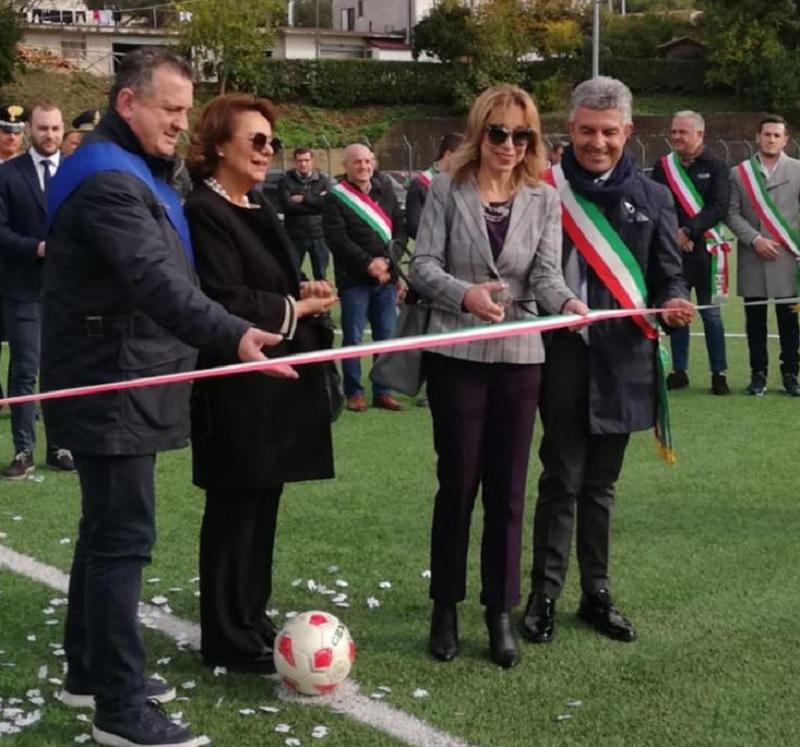 Inaugurato il nuovo campo sportivo a Faicchio. Il compiacimento del Presidente Di Maria
