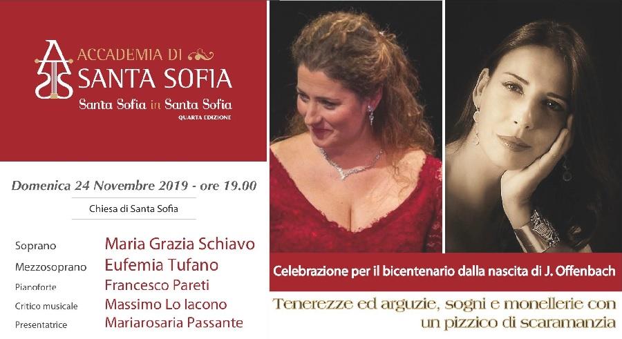 Santa Sofia in Santa Sofia. Domenica 24 Novembre un omaggio al compositore Offenbach