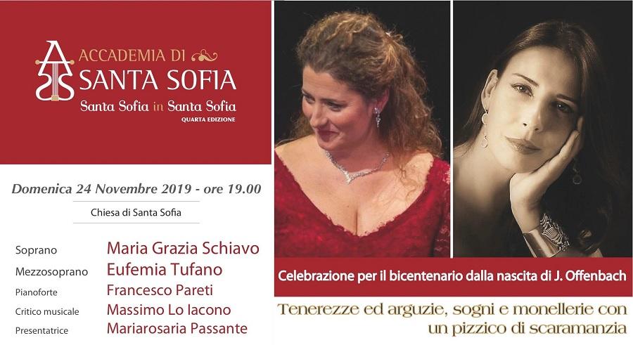 """Per il secondo incontro """"Santa Sofia in Santa Sofia"""" celebra il bicentenario della nascita di Jacques Offenbach"""