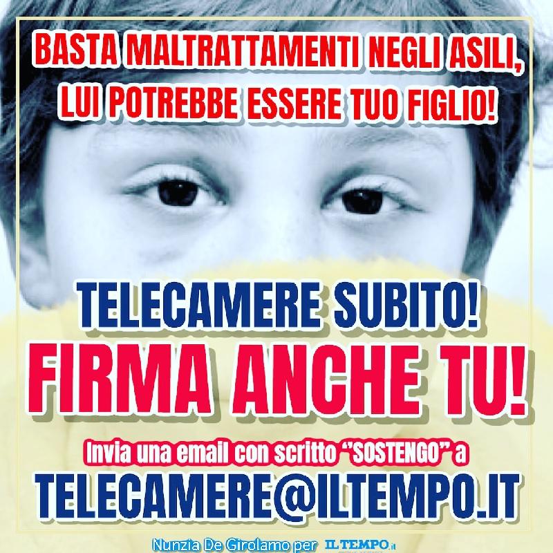"""Sicurezza: subito videosorveglianze in asili. Appelo della De Girolamo e petizione su """"Il Tempo"""""""