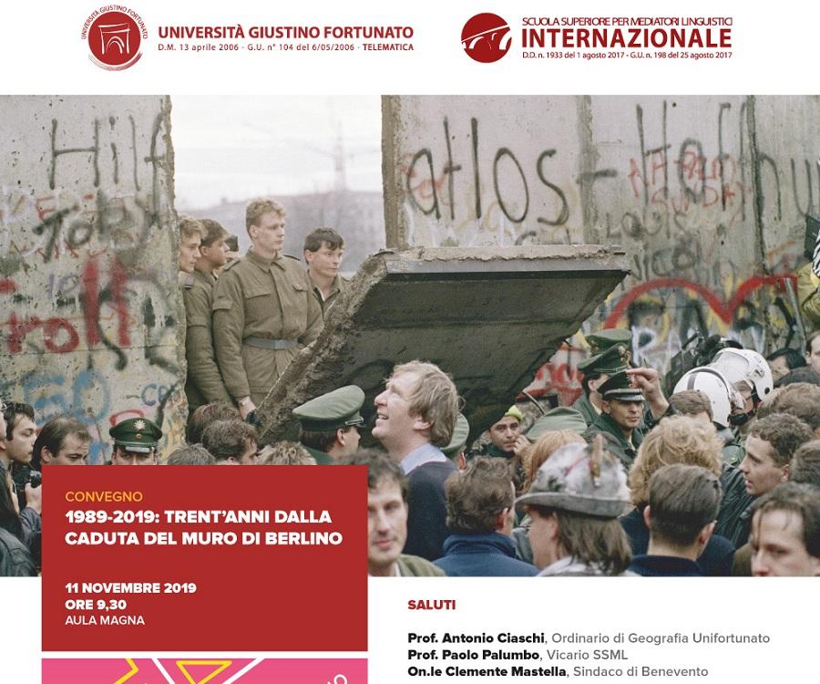 All'Unifortunato convegno Trent'anni dalla caduta del muro di Berlino