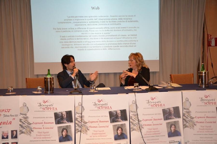 """Benevento. """"Nati liquidi"""", il libro di Bauman e Leoncini, presentato al Hotel President"""