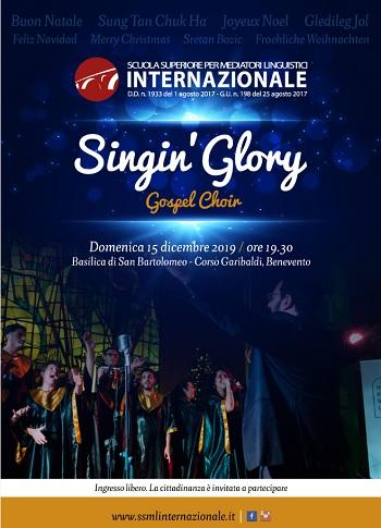 L'Istituto Universitario per Mediatori Linguistici presenta: Singin' Glory