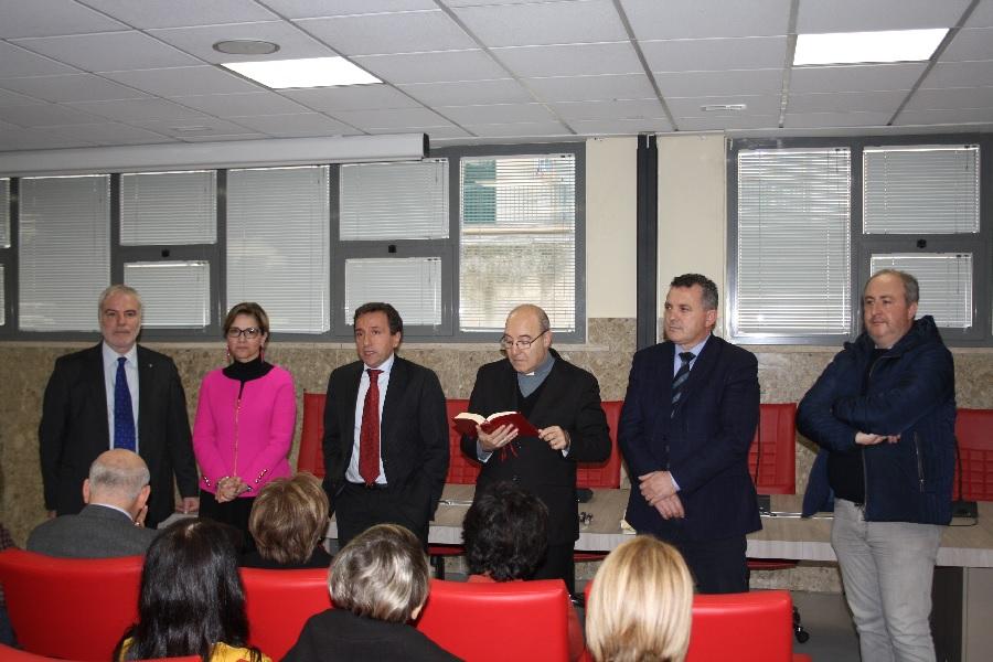 Di Maria all'inaugurazione della sala conferenza dell'Asl a Benevento