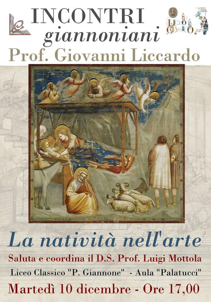 Incontri giannoniani: Giovanni Liccardo sulla natività nell'arte