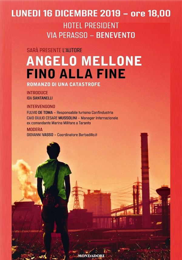 """Il 16 Dicembre sarà presentato il libro di Angelo Mellone: """"Fino alla fine"""""""