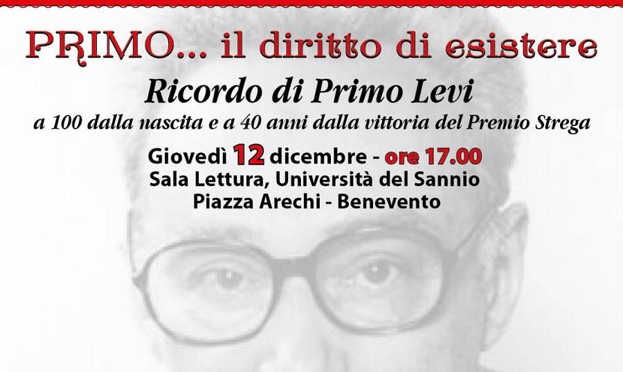 Benevento ricorda Primo Levi a 100 anni dalla nascita e 40 anni dalla vittoria del Premio Strega