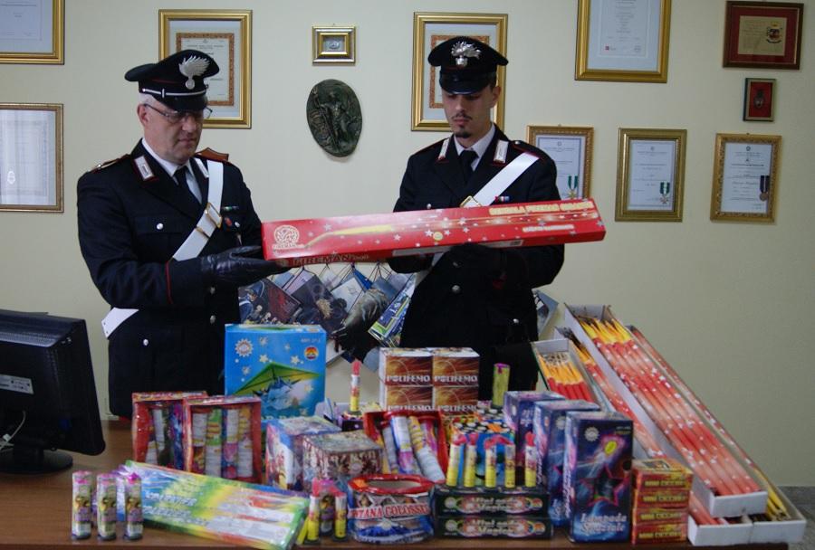 Telese Terme: sequestro di artifizi pirotecnici dei carabinieri.Denunciato un 27enne.
